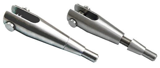 Image showing a fork end set with taper nut unlocked