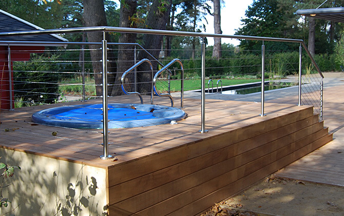 Balustrade Wire Infill is Less Intrusive