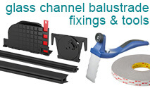 Glass Channel Balustrade Fixings and Tools