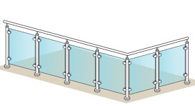 Glass Balustrade - 4 + 2 Metre