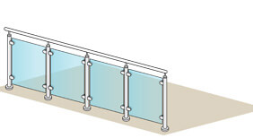 Glass Balustrade - 4 Metre