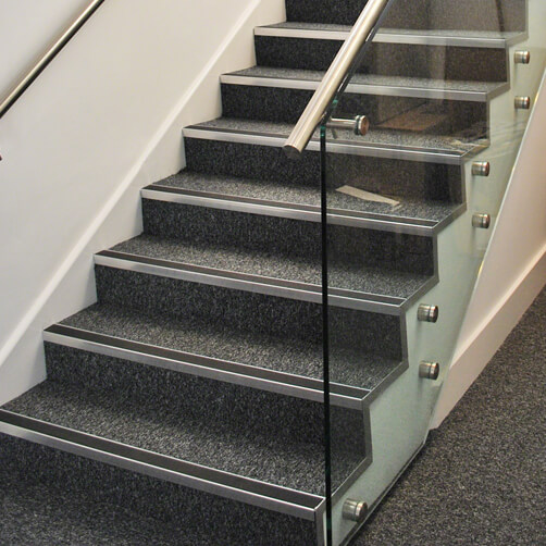 Glass Adapters on Stairs