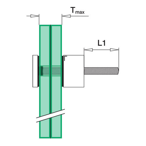Glass Adapter Fascia Mounting - Glass Detail