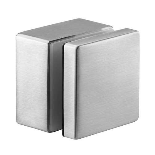 Glass Adapter Fascia Mounting - Square - Stainless Steel