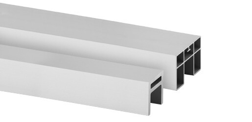 Cap Rails - Glass Channel Mounting Handrail