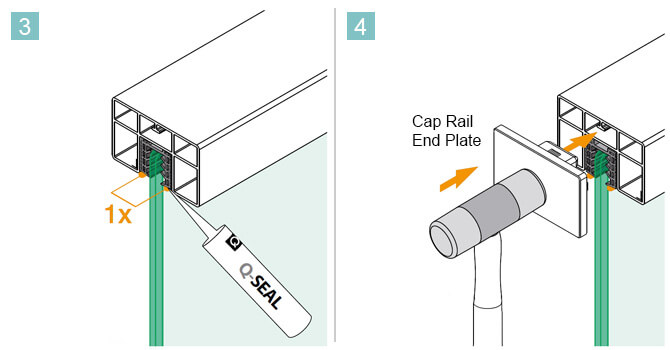 65mm x 40mm Cap Rail Installation Advice
