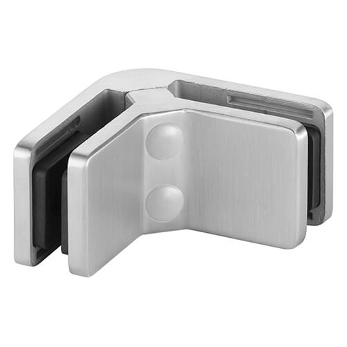Square Glass Clamp - 90 Degree Angle - Stainless Steel