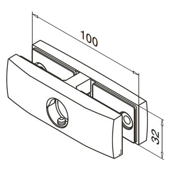 Stainless Steel Glass Clamp Detail - In-Line - For Adapter Mounting