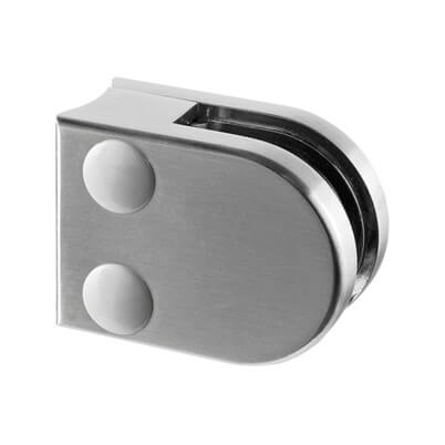 Zinc Glass Clamp - D Shaped - 6mm to 8mm Glass - Tube Mount
