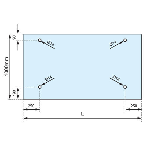 Glass Canopy Drilling Template
