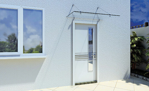 Stainless Steel Glass Door Canopy