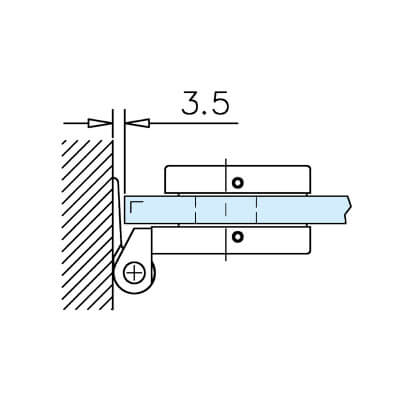 Glass Door Hinge - Rectangular - Position