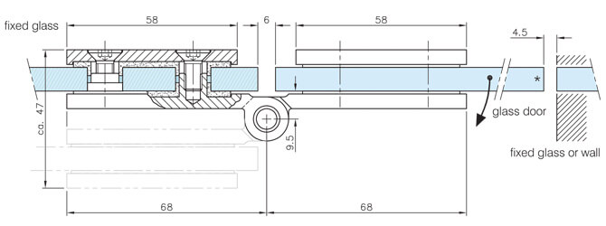 Long D Shaped Door Hinge - Dimensions and Position