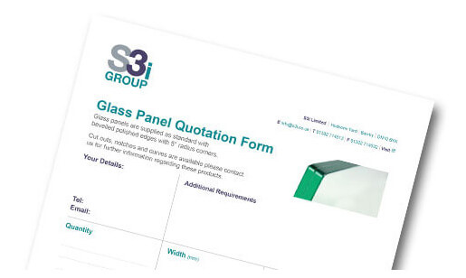 Downloadable glass quotation sheet