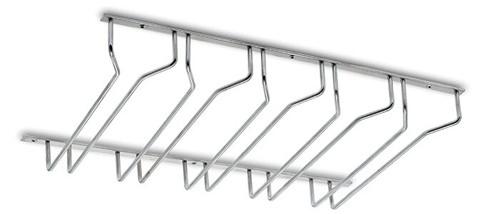 5 Column Glass Rack - Stainless Steel