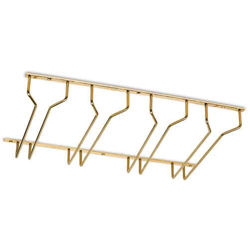 Glass Rack - 4 Column - Brass Finish
