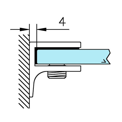 Glass Shelf Support - Design - Position