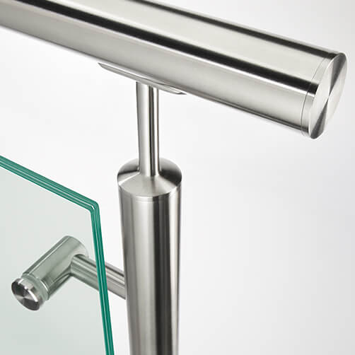 Stainless Steel Glass Adapter-Spider - Tube Mounted