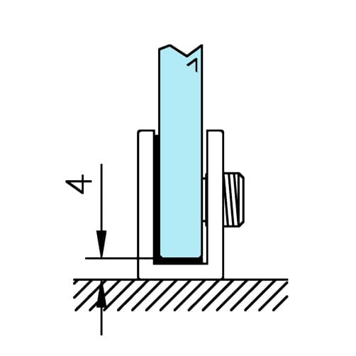 Glass Support - Curved - Position