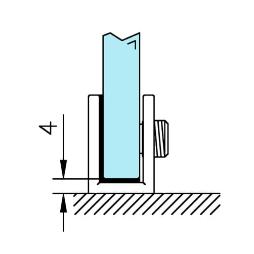 Glass Support - Square - Position