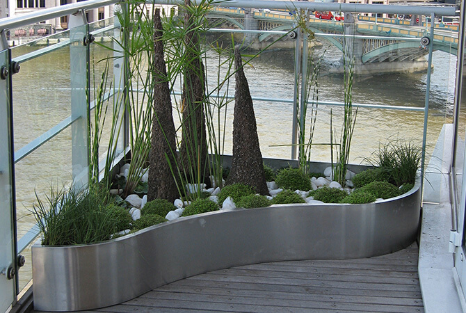Globe Walk Stainless Steel Planter