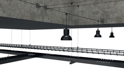 Gripple Black Line Wire Rope Suspension Solution