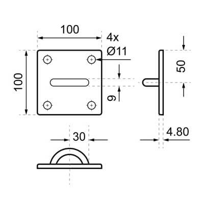 Wall Bracket Dimensions