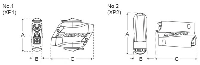 Gripple Express Hanger Dimensions