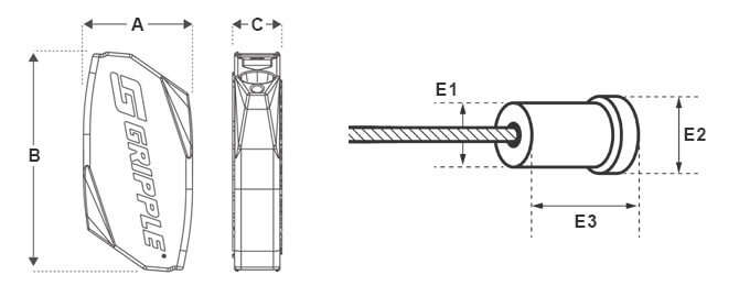 Gripple Standard Hanger and End Stop Dimensions