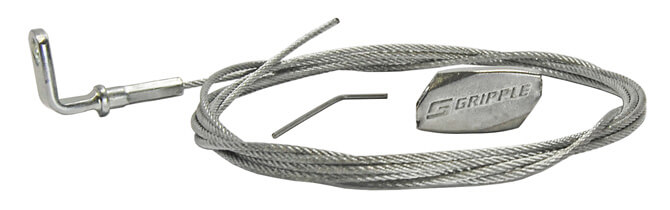 Gripple Standard Hanger and Wire Rope 90 Degree Eyelet
