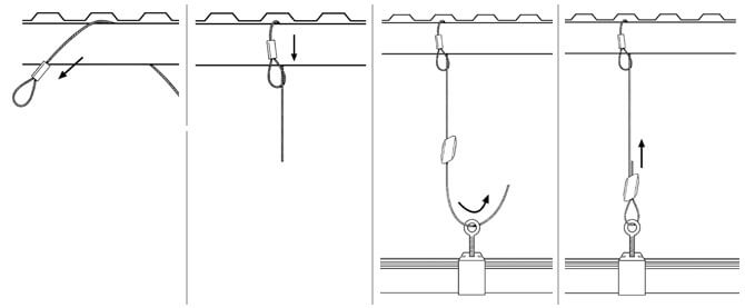 Gripple Standard Hanger - Wire Rope with Loop Installation