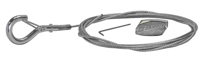 Gripple Standard Hanger and Wire Rope Snap Hook