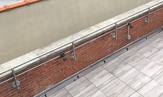 Stainless Steel Wall Mounted Guardrail - New York