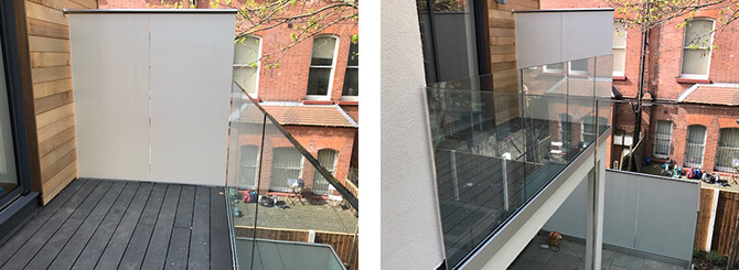 Glass Privacy Screen Balustrade