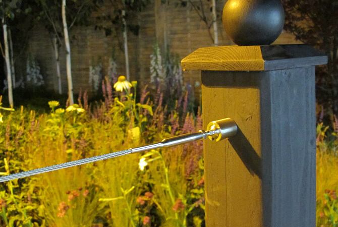 Balustrade Wire Kit featured at Hampton Court Flower Show