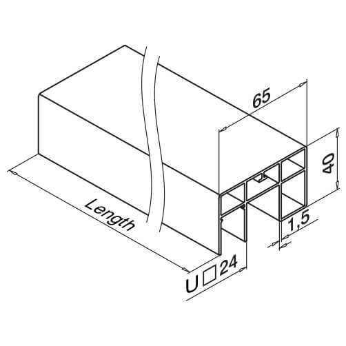 Rectangular Handrail - Dimensions