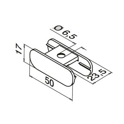Adapter for Channel Handrail - Dimensions