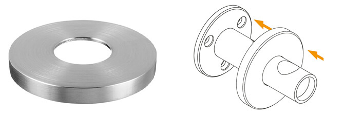 Stainless Steel Handrail Bracket Cover Cap