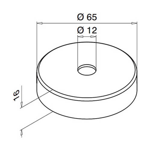 Handrail Bracket Cover Cap For Modular Stainless Steel Balustrade - Diagram