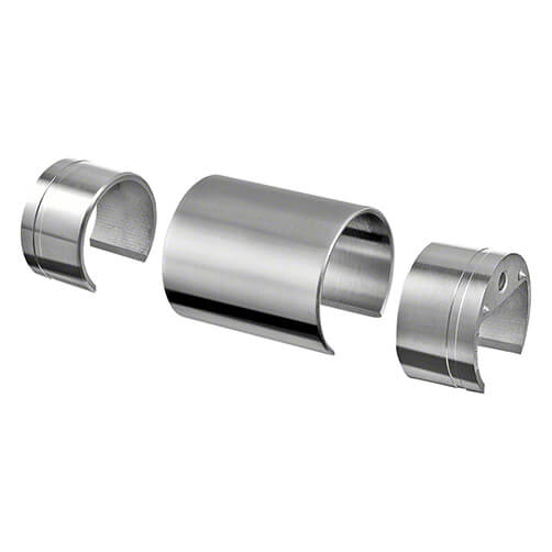 In-line Connector for Wood Handrail - Glass Channel Balustrade