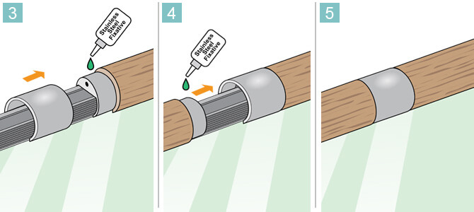 Connector for Wooden Channel Handrail - Installation Advice