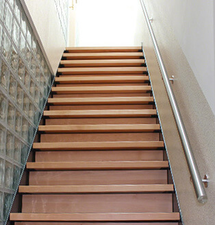 Stainless Steel and Timber Handrail