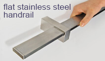 Flat Stainless Steel Handrail