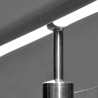 Tube Mount Handrail Saddle with LED Illuminated Handrail