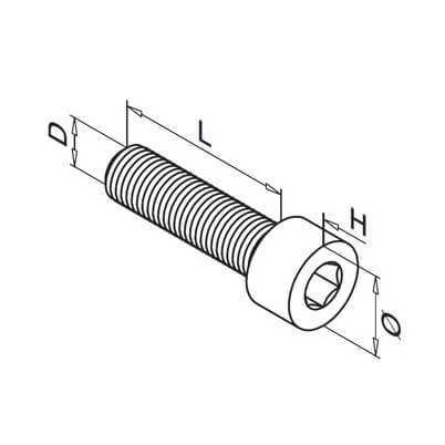 Hex Head Cap Screw Diagram