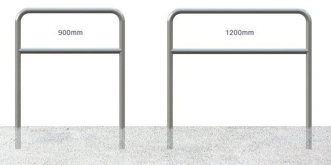 900mm and 1200mm Hoop Barriers with Mid Rail