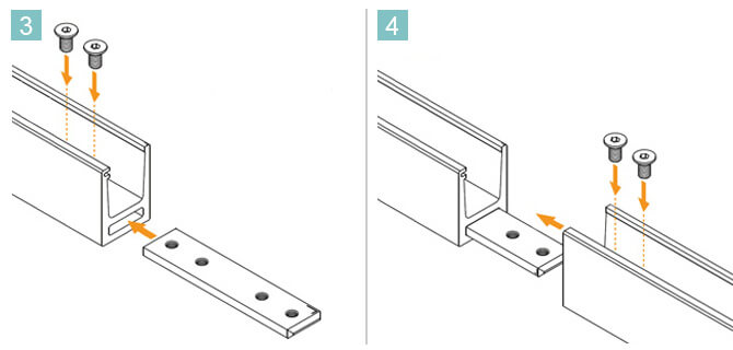 Insert Connector and Secure with Screws