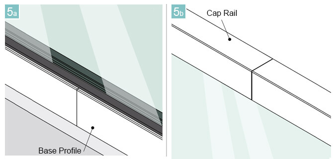 Suitable for Glass Channel Base Profiles and 33mm x 39mm Cap Rail