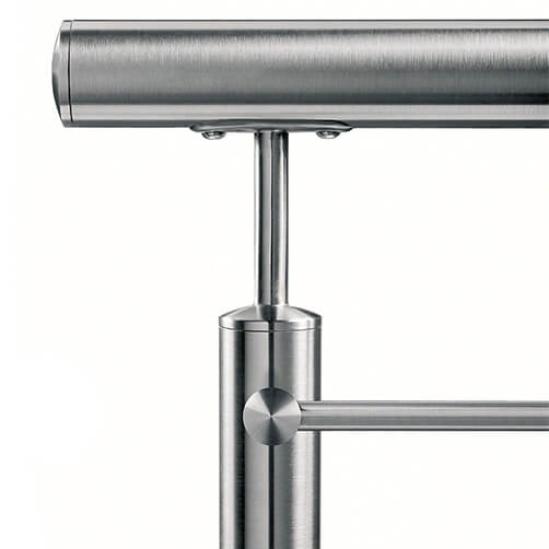 Stainless Steel In-line Tubular Handrail Saddle