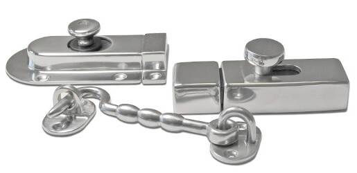 Stainless Steel Door Latches, Cabin Hooks and Barrel Bolts